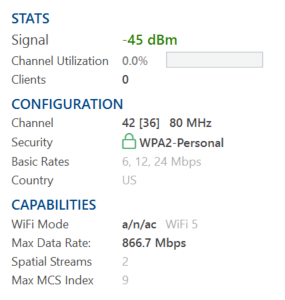 WiFi Access Point Details